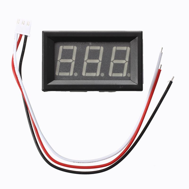 Mini panel Meter voltage display voltmeter DC 0-200 V 20 mA Green three cables E 5