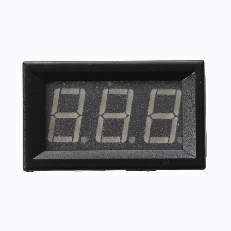 Mini panel Meter voltage display voltmeter DC 0-200 V 20 mA Green three cables E