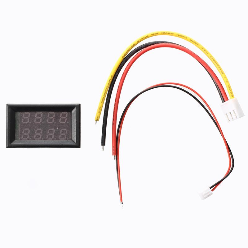LED-Digital-Voltmeter-Voltage-Indicator-Ammeter-0-30V-10A-Y9J4 thumbnail 4