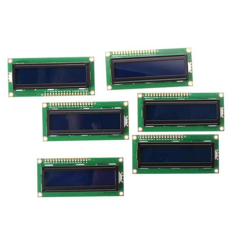 6pcs HD44780 de 16 x 2 Modulo LCD con Caracteres blancos Retroiluminacion azul M