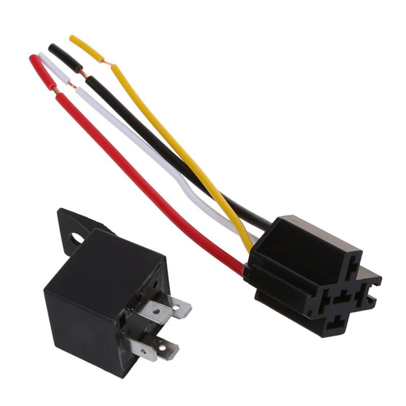 2 x Car Relay Automotive Relay 12V 40A 4 Pin Wire with 5 outlets NEW ...