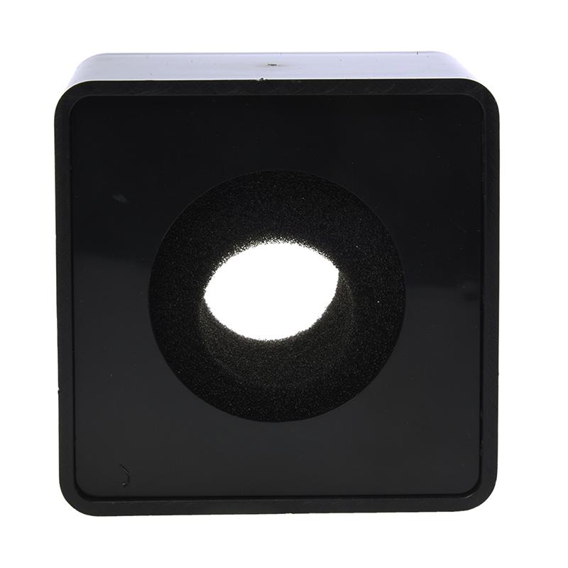 1pz-Negro-ABS-Microfono-Mini-telefono-Estacion-de-bandera-Logo-cubo-cuadrado-8N4