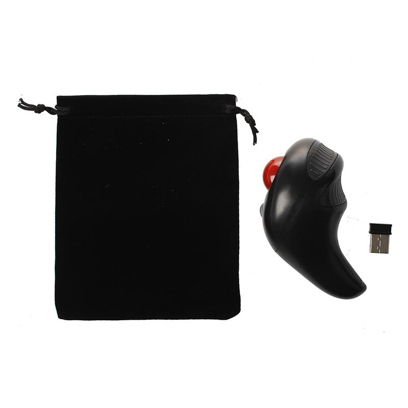 5X-Negro-Inalambrico-2-4GHz-optico-Raton-de-Trackball-de-mano-Para-PC-orden-R8W5