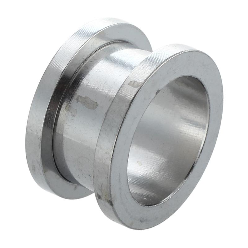 1X-Silver-Steel-Gauge-Earring-Punk-Flesh-Tunnel-Ear-Plugs-Rimmed-Flat-StyleU2C7 thumbnail 3