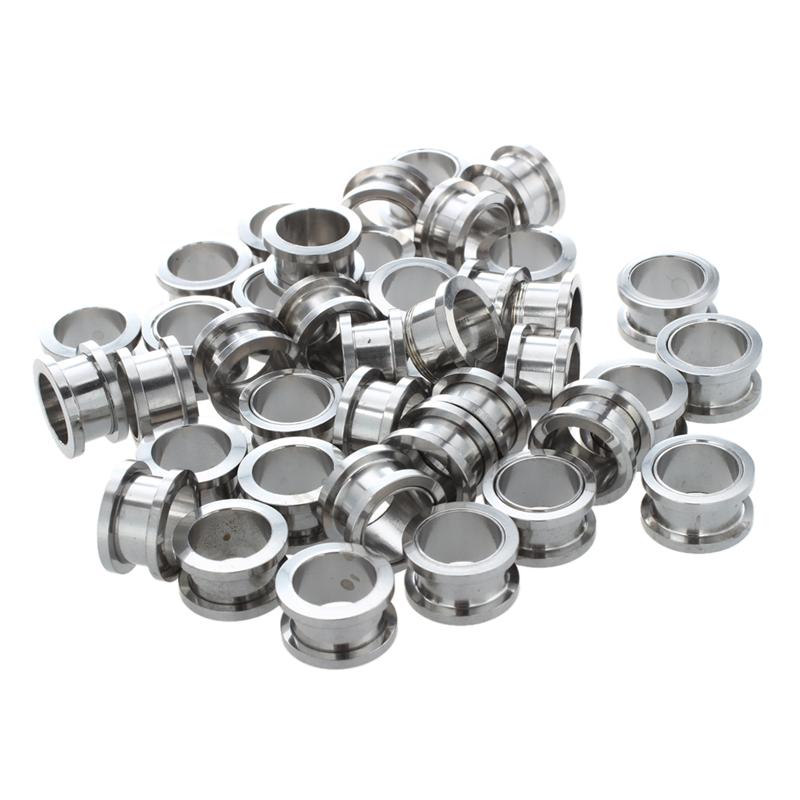 1X-Silver-Steel-Gauge-Earring-Punk-Flesh-Tunnel-Ear-Plugs-Rimmed-Flat-StyleU2C7 thumbnail 6