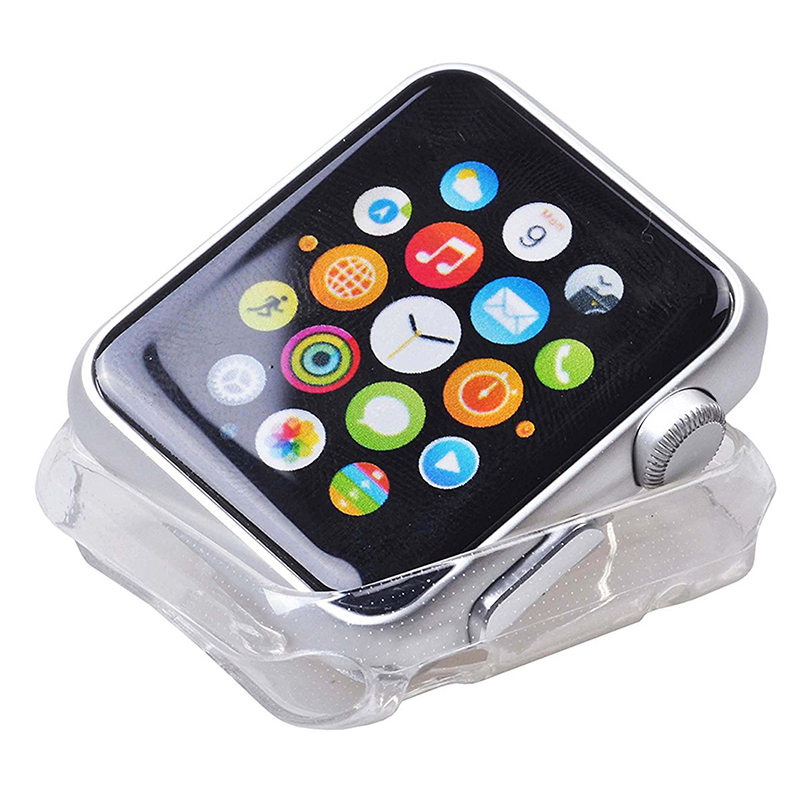 5X-Clear-Crystal-TUP-Watch-Case-Soft-Case-for-Apple-Watch-42-mm-Case-Slim-Soft-S