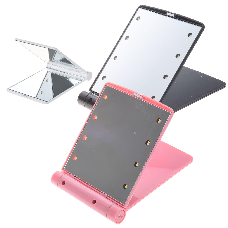led taschen handtasche kompakte kosmetikspiegel mit beleuchtung faltbaren c f0s8 ebay. Black Bedroom Furniture Sets. Home Design Ideas