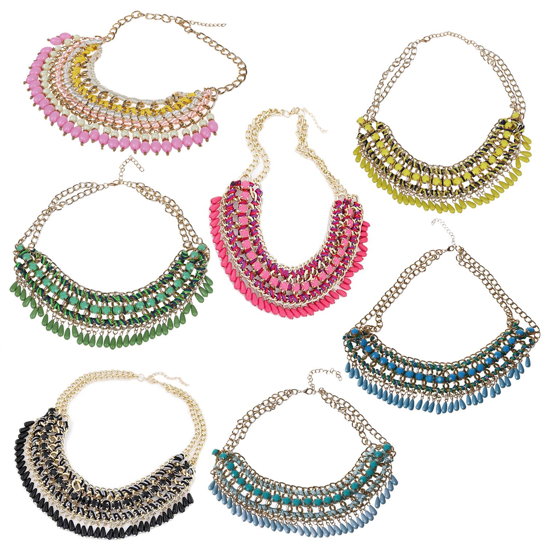 3X-Modeschmuck-Halsketten-fuer-Frauen-Wassertropfen-Seil-Kette-E9R7