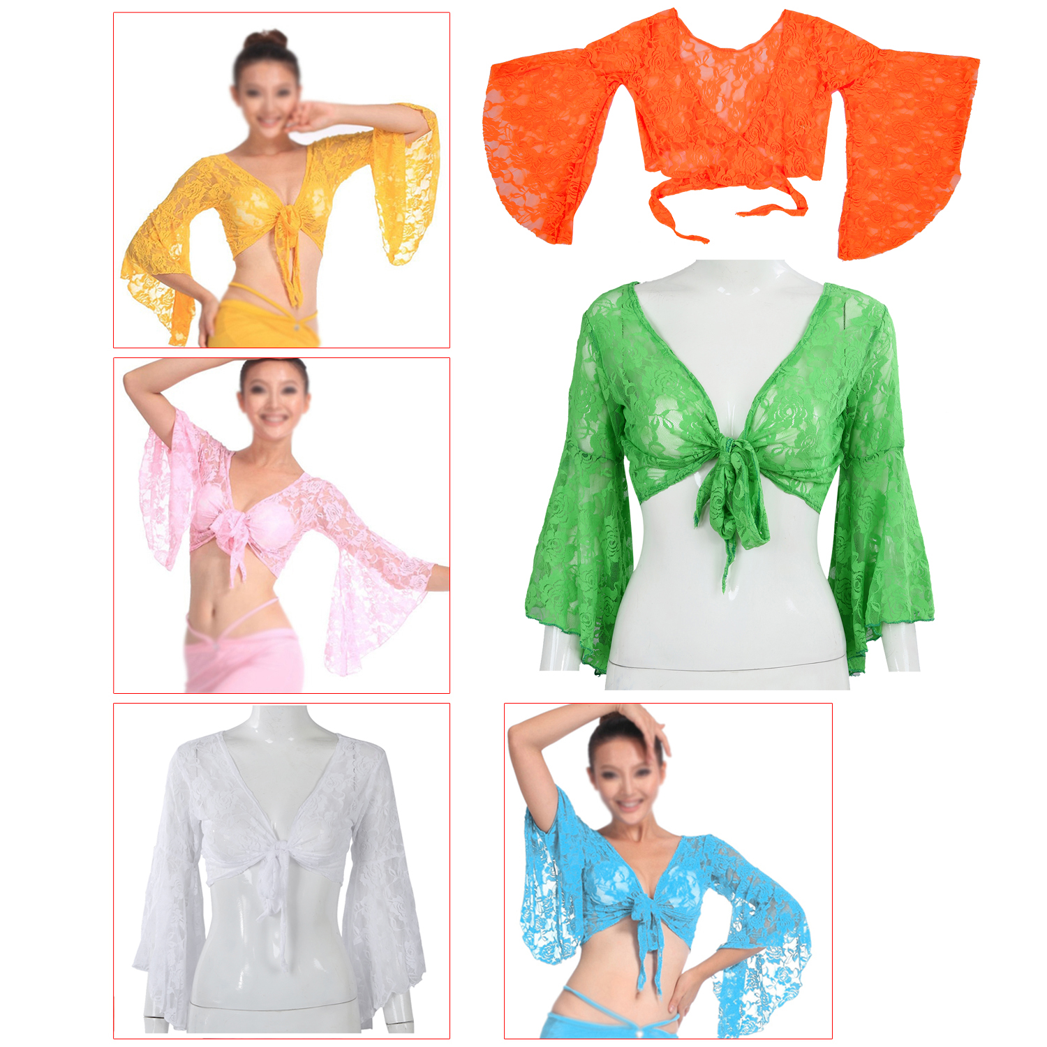 Sexy Belly Dance Dancing Lace Blouse Top Bra Dancewear Costumes Pink ...