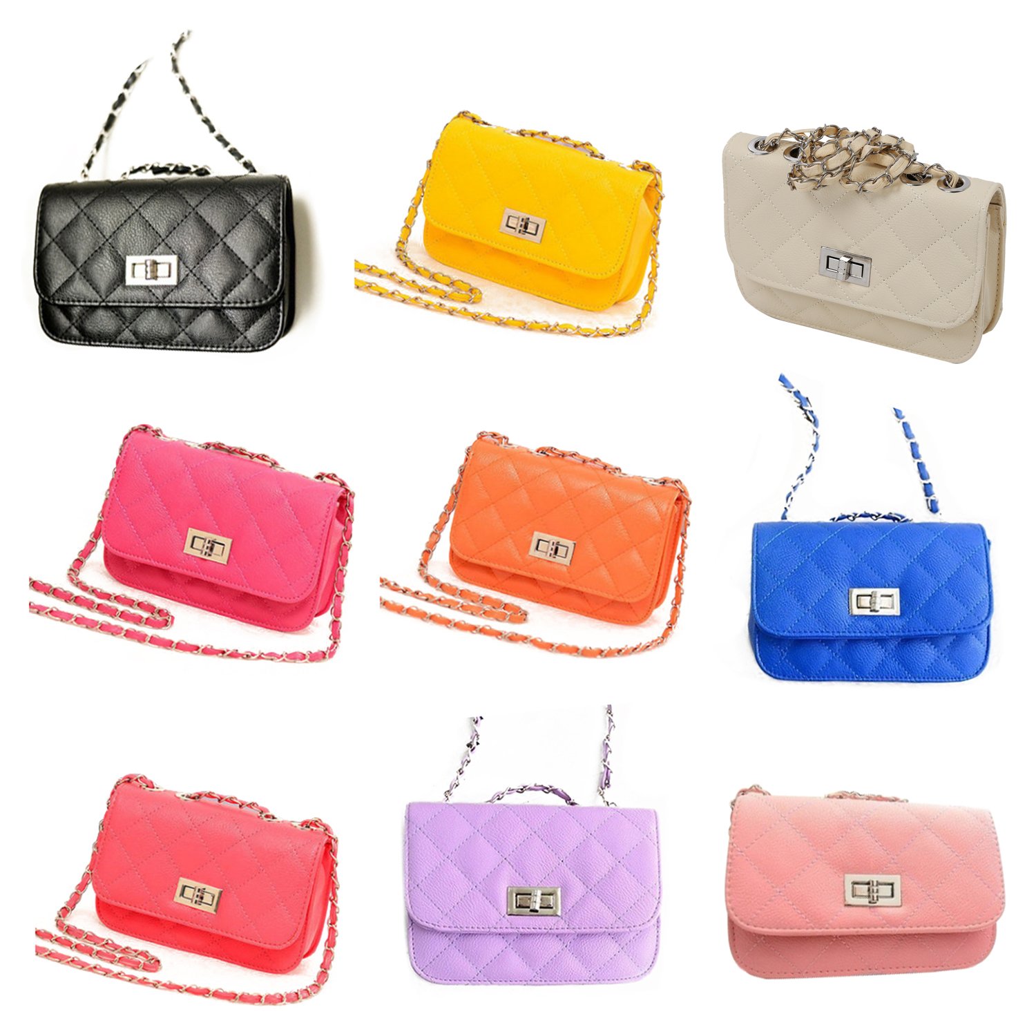 0f878d3cdaa9 Women s Leather Cute Mini Cross Body Chain Shoulder Bag D9O7. Net Weight   497g Material  synthetic Leather Colors  Black