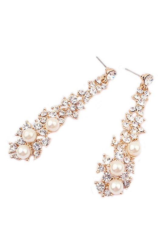 5X-Elegant-Pearl-Rhinestone-Dangle-Chandelier-Earrings-Stud-Y3B7