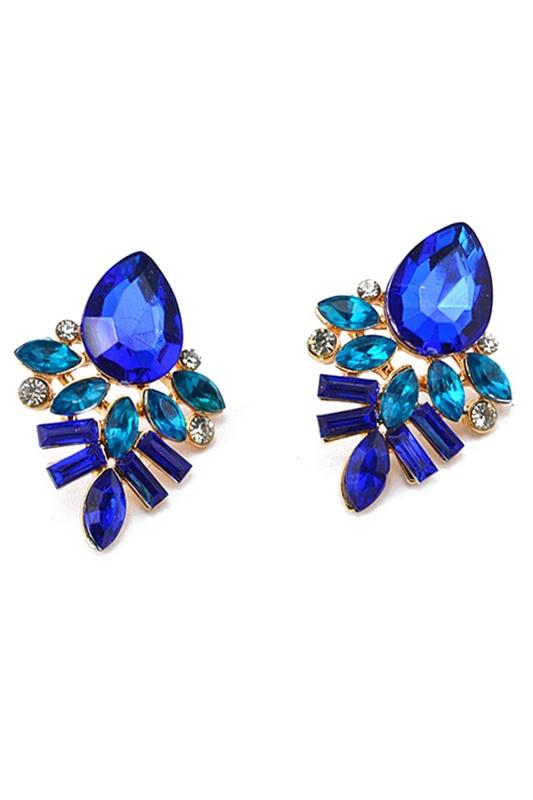 5X-Women-039-s-Rhinestone-Crystal-Drop-Ear-Studs-Earrings-Blue-M2H1