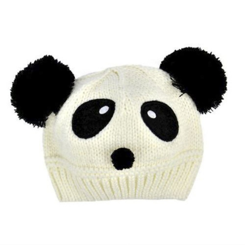 sombrero lindo y calido ganchillo punto patron panda invierno para ...