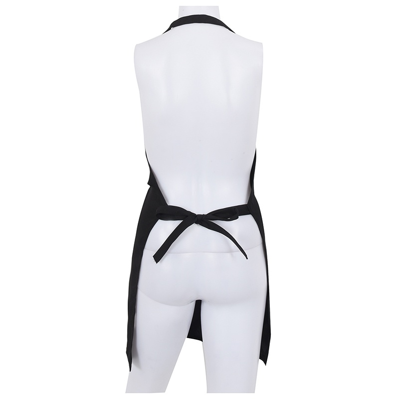 Delantal-con-bolsillo-delantero-de-cocina-de-color-negro-G1J2