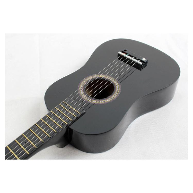 23-034-Guitarra-Mini-Guitarra-Juguete-musical-de-ninos-de-tilo-Instrumento-de-cuerd miniatura 4