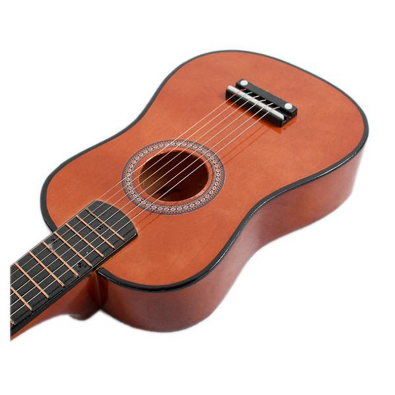 23-034-Guitarra-Mini-Guitarra-Juguete-musical-de-ninos-de-tilo-Instrumento-de-cuerd miniatura 7