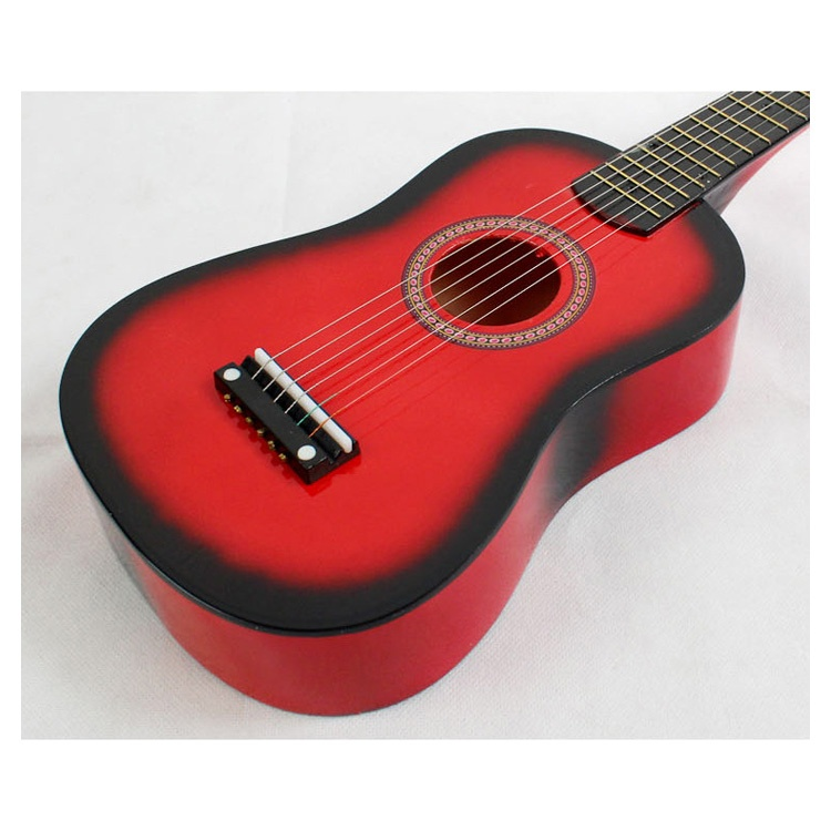 23-034-Guitarra-Mini-Guitarra-Juguete-musical-de-ninos-de-tilo-Instrumento-de-C9P8 miniatura 6