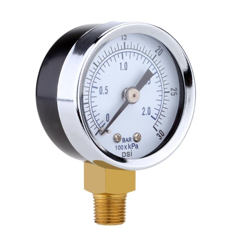 0-30inHg-0-1bar-Mini-cadran-Manometre-de-pression-d-air-barometre-me-SC miniature 15