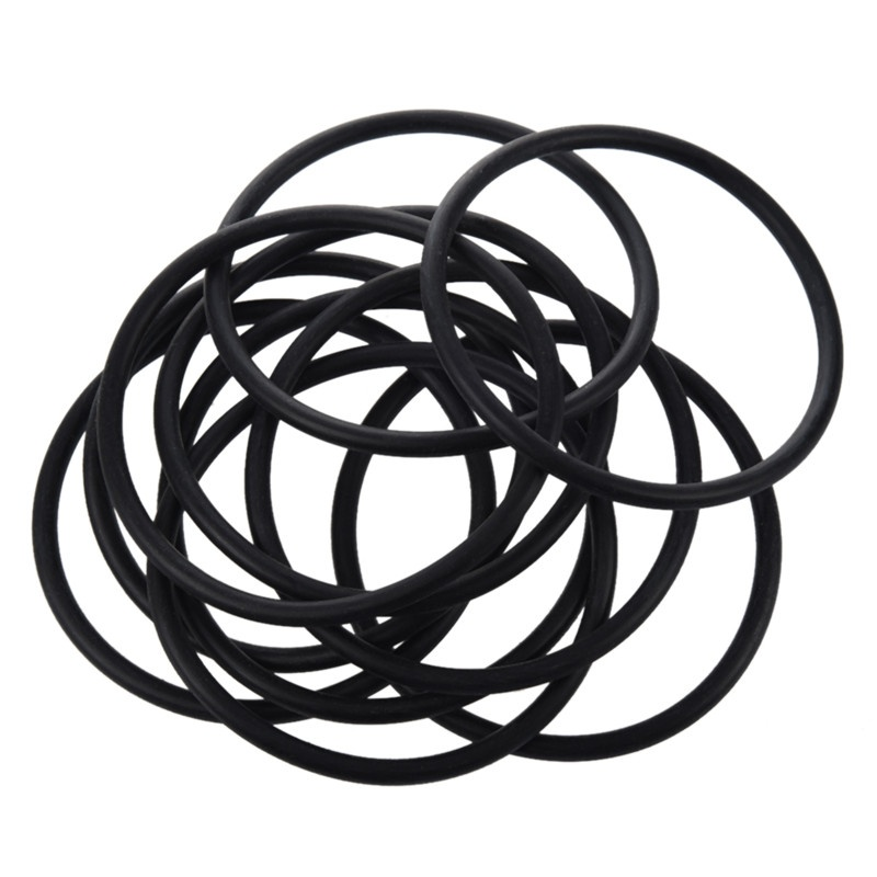 1X(10 pieces 90 mm x 5mm Black nitrile rubber O-ring seal NBR grommets I9Z4)