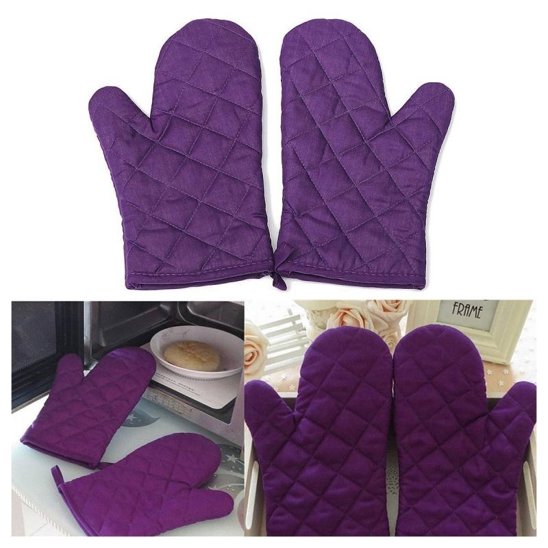 1-Paire-resistant-a-la-chaleur-en-Coton-gants-de-four-cuisine-cuisson-moufl-W1C6 miniature 4