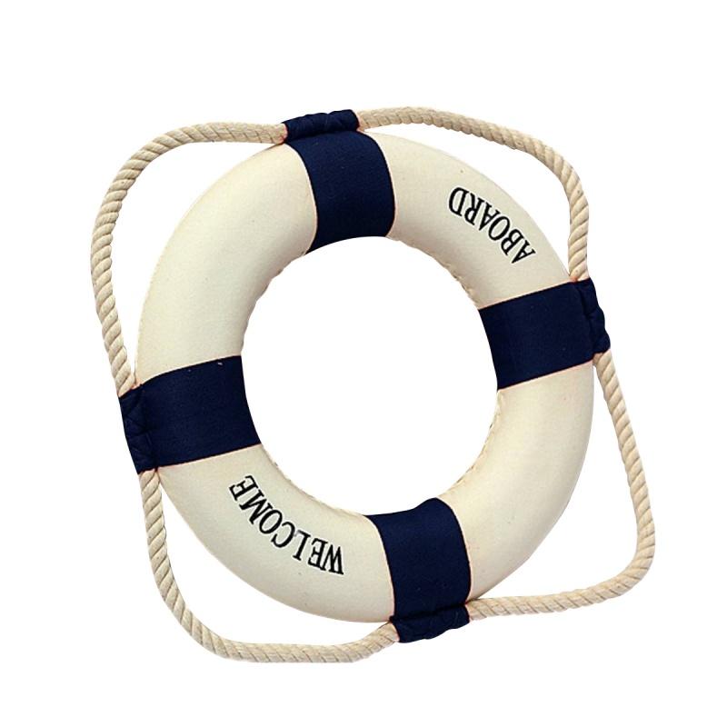 Bienvenido a bordo Anillo Salvavidas de vida nautico de espuma Decoracion d J1S6