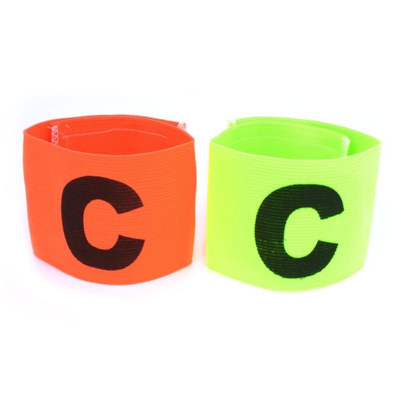 2 morceaux brassard d'orange vert elastique pour de capitaine de pour football C5M8 503158