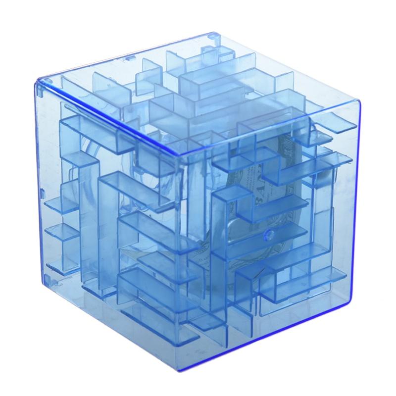 Banco-del-laberinto-de-dinero-cubico-de-plastico-Caja-de-coleccion-de-ahorr-X5D3 miniatura 3