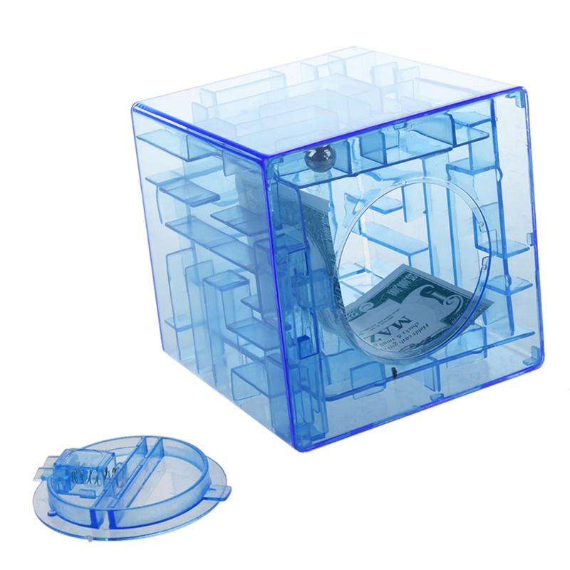 Banco-del-laberinto-de-dinero-cubico-de-plastico-Caja-de-coleccion-de-ahorr-X5D3 miniatura 5