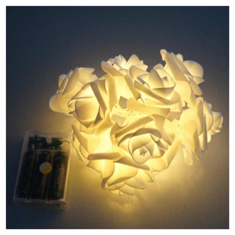 2M-20-LED-Rose-flowers-String-Lights-Clear-Cable-bedroom-decoration-wedd-D6M2