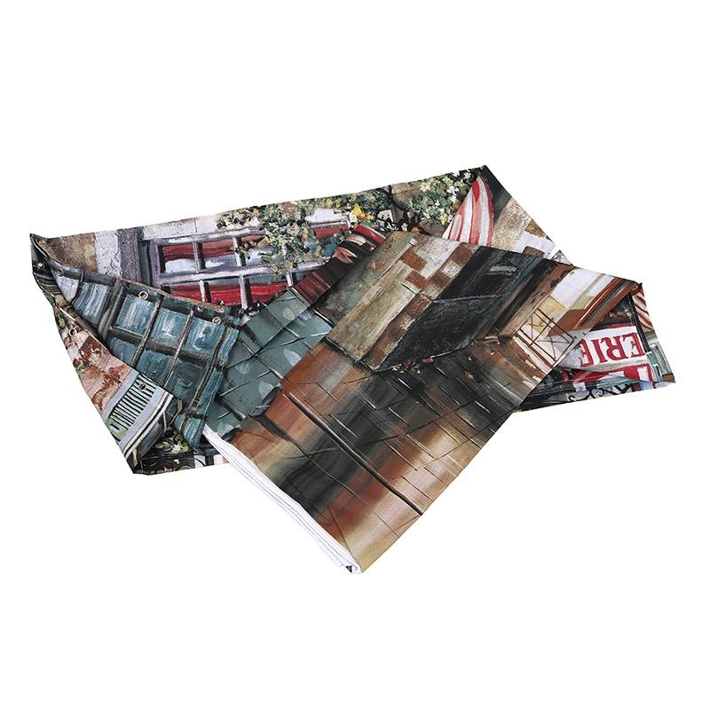 Cortina-de-ducha-180x200cm-Vendimia-Europeo-Impermeable-Frances-Calle-Ducha-del