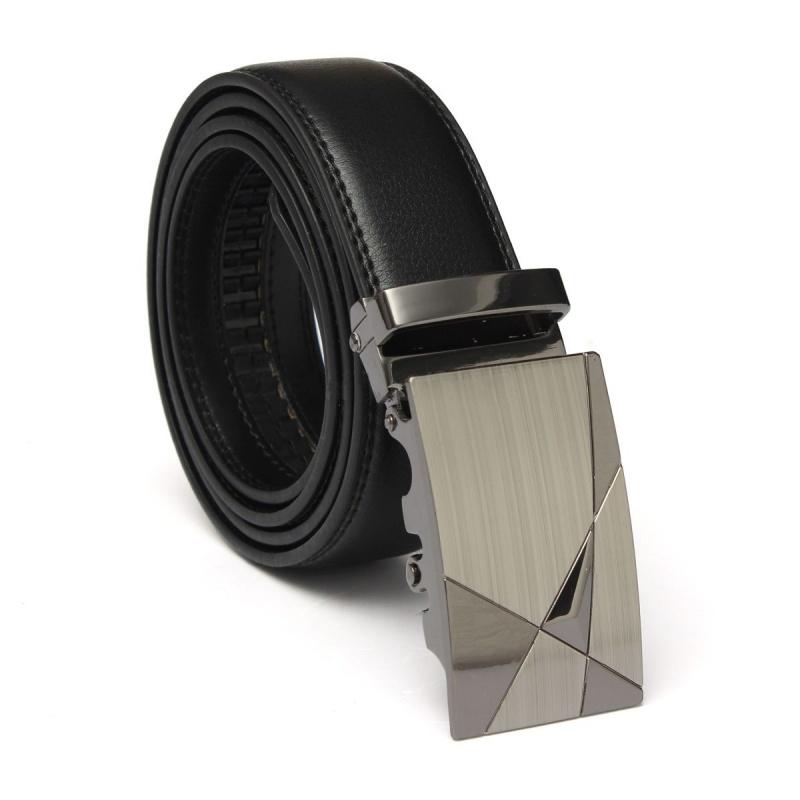 Lujo Negro Cuero Automatico Informal Hombre Pretina Correa de cintura Cinturon T