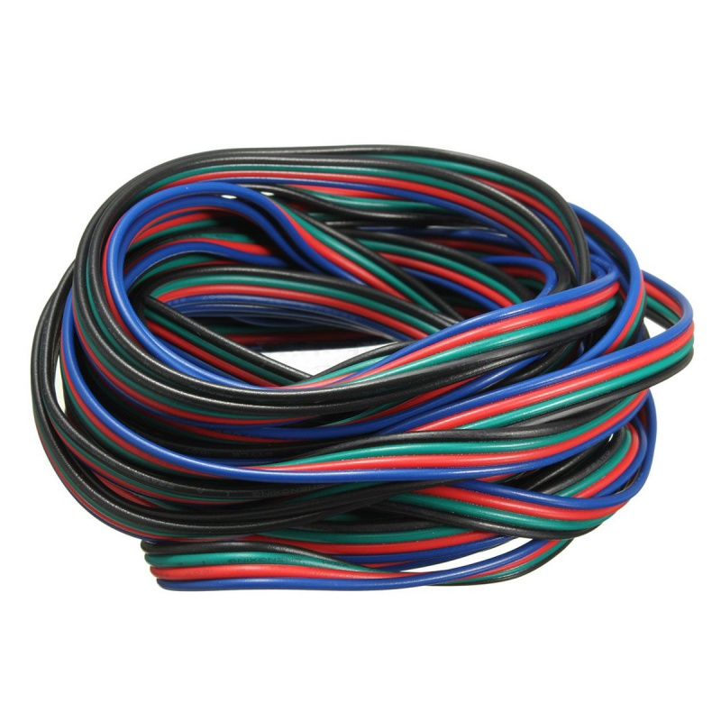 4 Pin Wire Extension Connector Cable Cord For LED RGB Strip 3528 ...