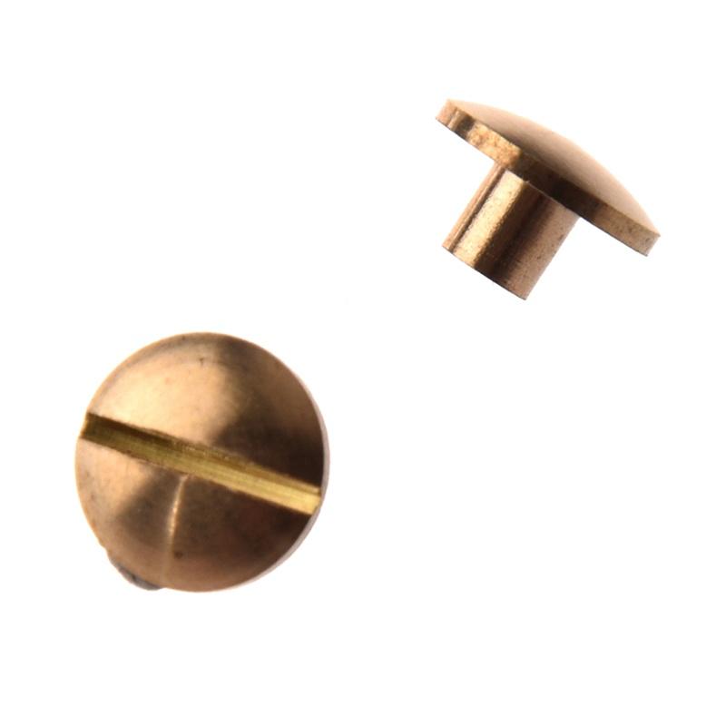 10x Arc Solid Brass Button Stud Screw Nail Screw back Leather Rivet Belt 4m C3X8