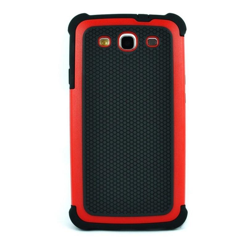 Etui de couche double hybride pour Samsung Galaxy S3 III i9300 rouge Z8S8