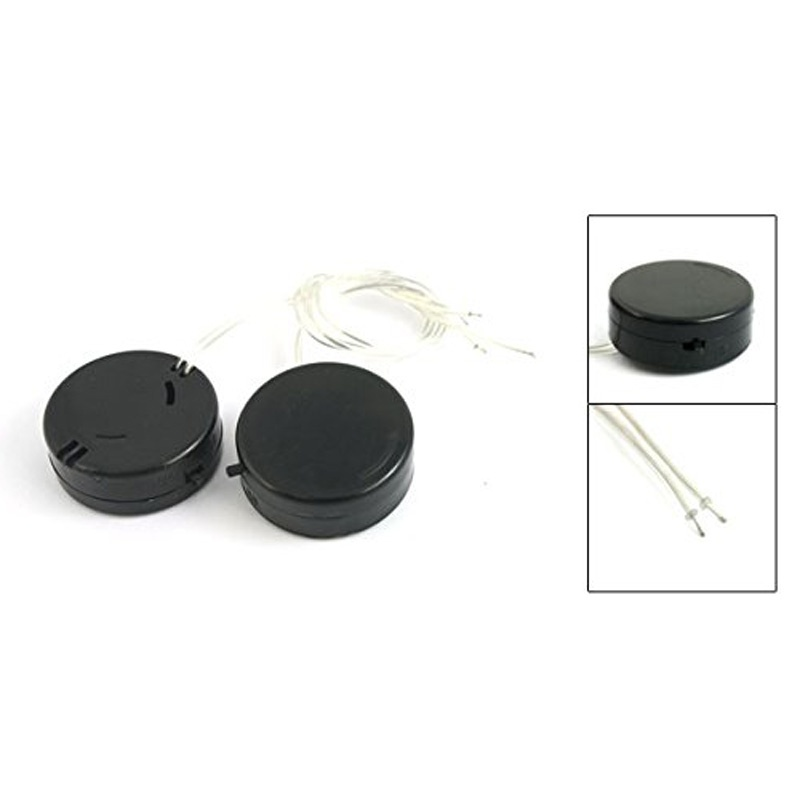 2 STUECKE SCHWARZ Leitungsdraht CR2032 Knopfzellen Batteriehalter ...