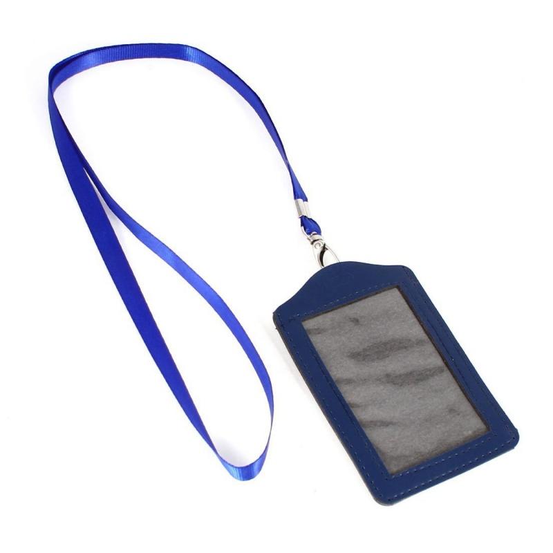 porte carte tour de cou Imitation cuir avec porte carte de visite avec cordon tour de cou