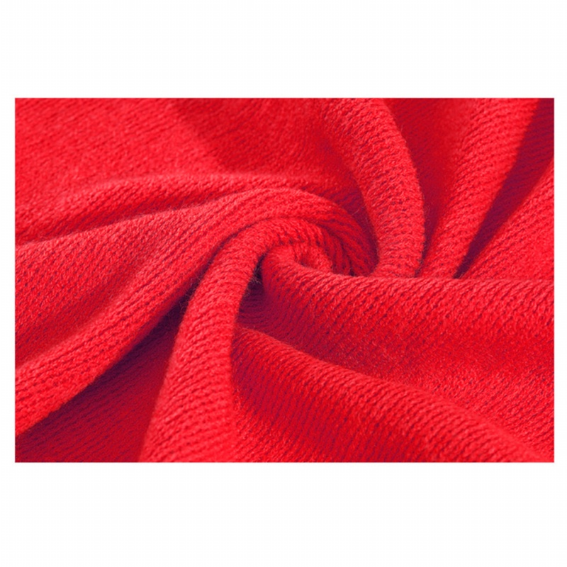 Unisex-Rectangle-Shape-Winter-Warm-Long-Knitted-Scarf-Red-W2Y9 thumbnail 2