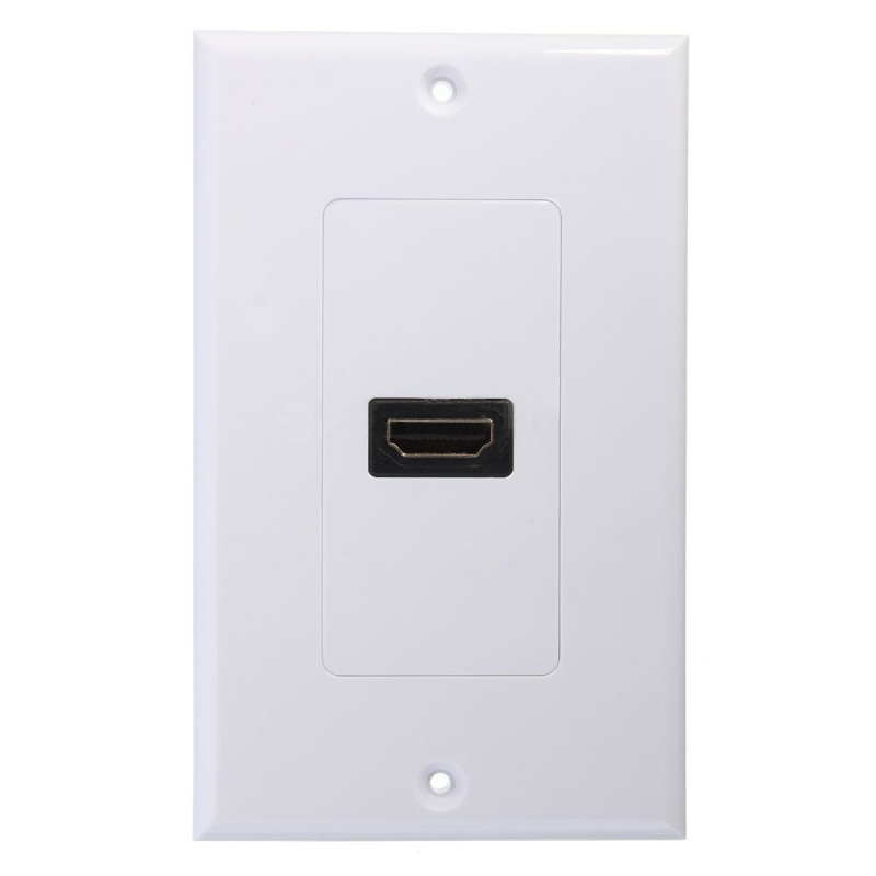 New 1-Port HDMI Wall Face Plate Panel Cover Coupler Outlet