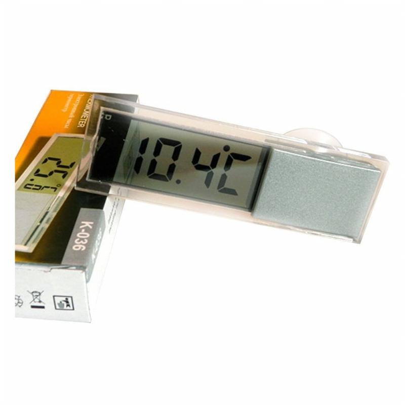 Termometro de coches SODIAL Tipo de ventosa LCD Termometro digital montado en vehiculos Celsius Fahrenheit R