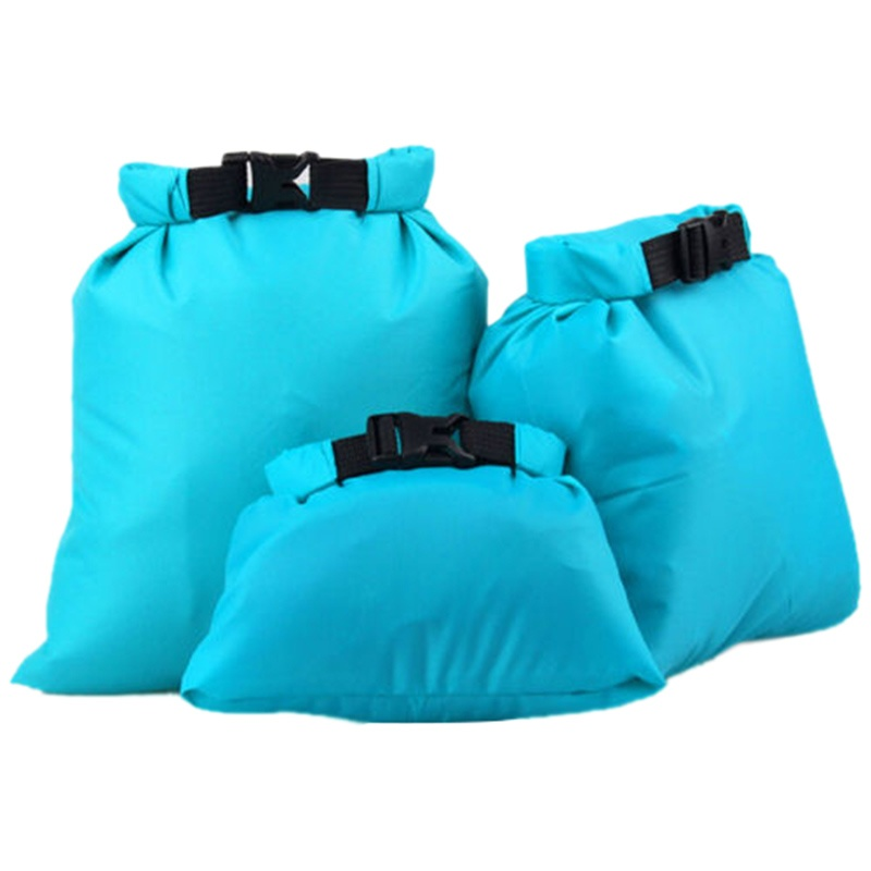 LUCKSTONE Set of 3 Waterproof Pouch Dry Bag Case Cover 1.5/2.5/3.5 L Campin Y7K6