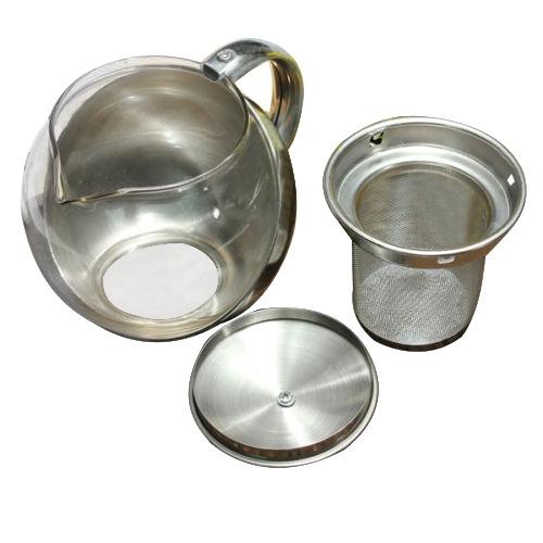 Edelstahl glas gesicht moderne teekanne kraeuter for Moderne couchtische glas edelstahl