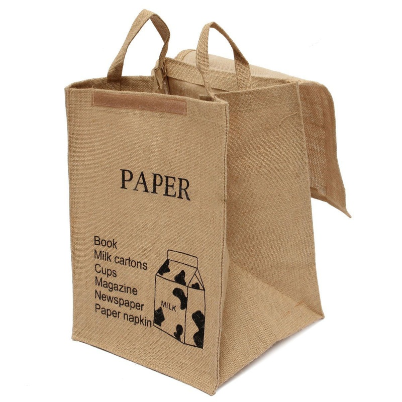Large Cotton Linen Folding Laundry Washing Clothe Basket Bag Bin Storage HamA2F6