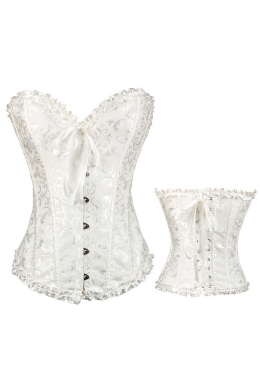 dfb7068a60 Sexy Corselet Women Plus size Satin Over bust Embroidered Corset ...