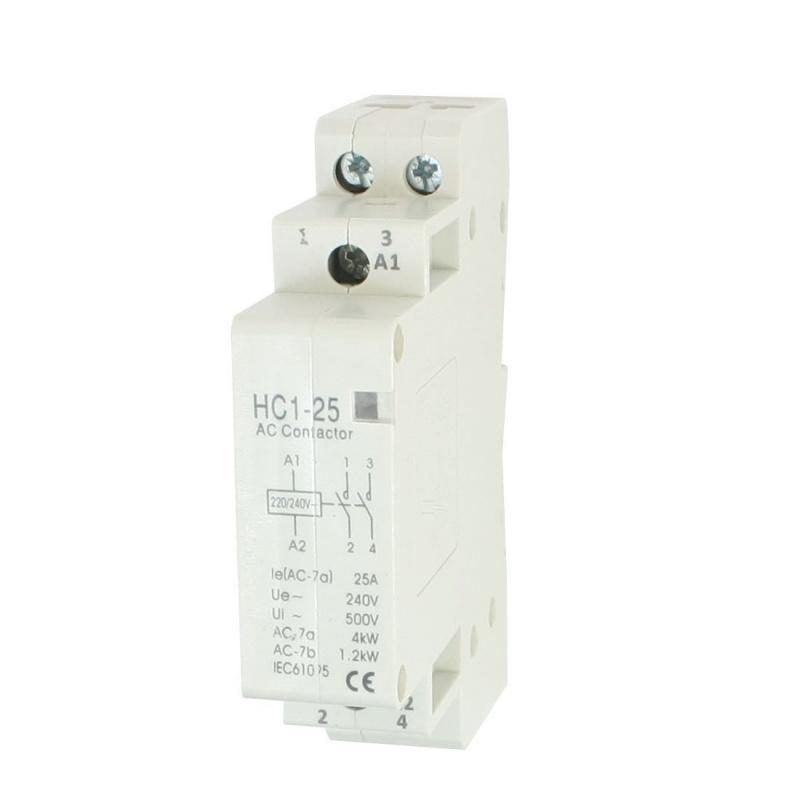5X-AC240V-25A-2-CAna-2P-Domestico-Cerrado-CA-Contactor-35mm-Carril-DIN-C5C4