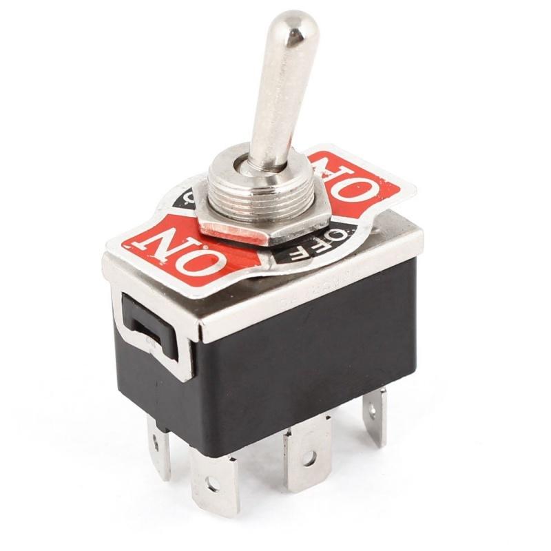 AC 250V / 10A 125V / 15A DPDT 3 Position ON / OFF / ON 6 Pins ...