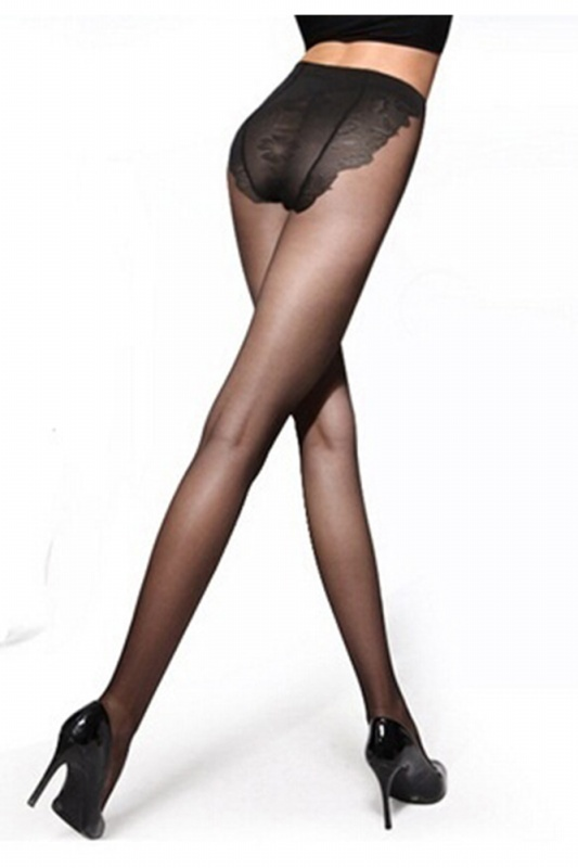 5X-Femmes-Sexy-noir-Transparent-collant-de-soie-Leggings-Bas-T1P6