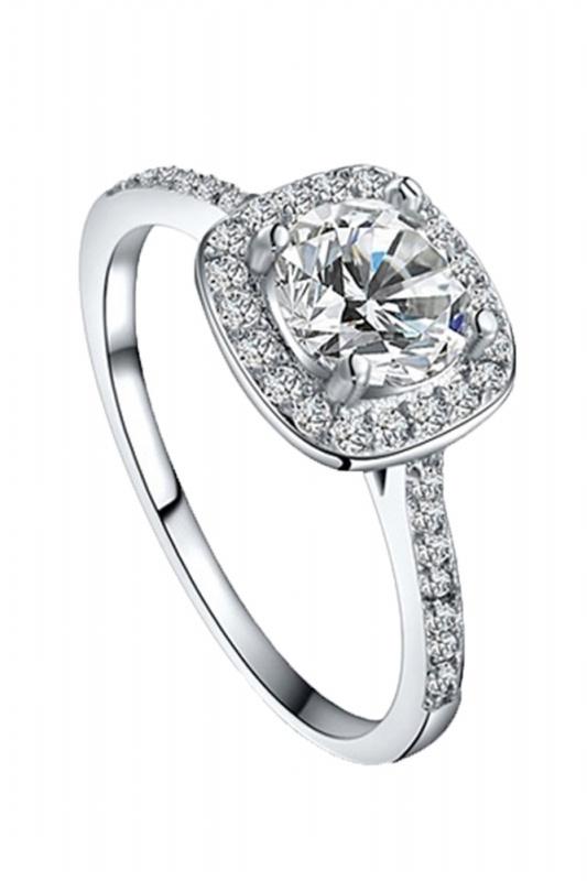 d0df3df6a6a9 La imagen se está cargando Anillo-boda-diamante-redondo-elegante-joyeria -moda-para-