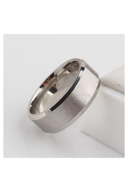 Stainless-Steel-Ring-Band-Titanium-Men-Wedding-R9B2 thumbnail 9
