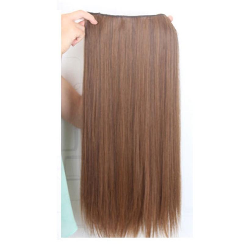 Extensions-de-cheveux-avec-clip-extensions-de-cheveux-droits-pour-femmes-brunes miniature 3
