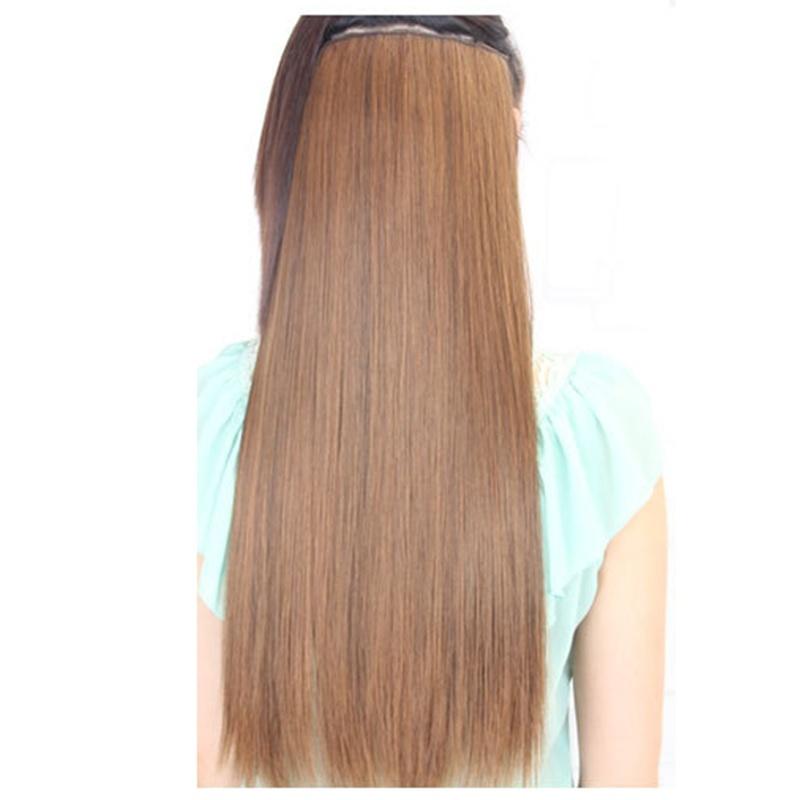 Extensions-de-cheveux-avec-clip-extensions-de-cheveux-droits-pour-femmes-brunes miniature 4